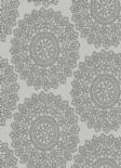 Lustre Mandala Silver Wallpaper 65091 By Four Walls